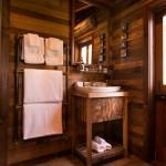 12-baie rustica cu finisaje din lemn Cabana Ciobanului ferma Annandale Noua Zeelanda