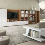 12-biblioteca moderna mare cu sifonier pentru living