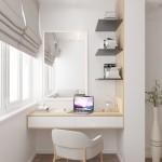 12-birou si masuta de toaleta in balconul dormitorului amenajare D3 Design