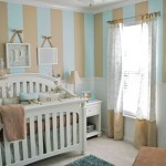 12-camera bebe baiat decorata in bleu bej si alb