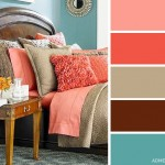 12-combinatii de coraille sau somon bej maro si bleu decor dormitor