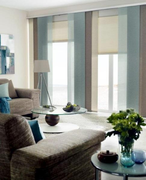 combinatii panouri glisante 3 culori decor ferestre living