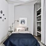 12-covor cu imprimeu etnic alb negru decor dormitor stil scandinav