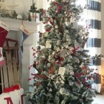12-decor traditional brad de Craciun in alb si rosu