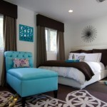 12-dormitor elegant amenajat in maro bleu si alb