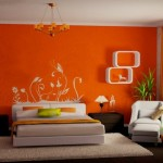 12-dormitor portocaliu modern potrivit zodiei Pesti