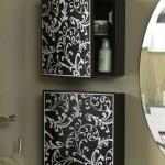 12-dulapuri mici decorative cu sertare laterale pentru baie