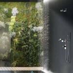 12-dus tip ploaie fixat pe tavanul unei cabine de dus ultra moderne