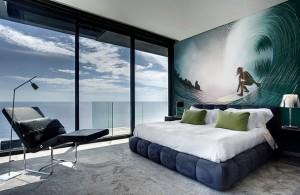 12-fototapet cu surfer pe val decor dormitor modern inspiratie maritima