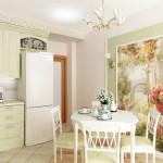 12-fototapet decorativ decor bucatarie amenajata in stil clasic