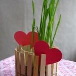 12-ghivece miniaturale pentru plante de apartament din cutii de conserve si clesti de rufe