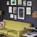 12-idei decor perete living cu tablouri postere si fotografii