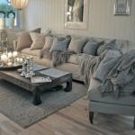 12-living amenajat in stil clasic parchet laminat pereti si mobilier gri