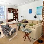 12-living modern impartit in mai multe zone de activitate