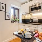 12-mobila alba design modern bucatarie apartament 20 mp
