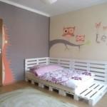12-mobila camera copil pat din palet de lemn