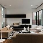 12-mobilier minimalist negru pentru living modern