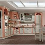 12-model mobila inzitita bucatarie stil rustic traditional somon cu alb