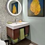 12-mozaic decorativ perete de accent baie moderna
