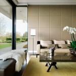 12-panouri decorative din piele in amenajarea unui living modern