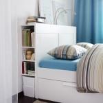 12-pat cu spatii de depozitare dedesubt si la capul patului