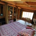 12-pat matrimonial dormitor cabana rustica lemn depin