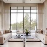 12-perdele bej deschis simple si vaporoase decor living modern minimalist