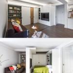 12-perete mobil si pat rabatabil la perete solutie amenajare garsoniera sau apartament mic