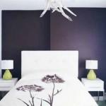 12-perete violet inchis aubergine decor dormitor modern mic