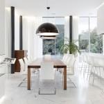 12-pereti albi si pardoseala din marmura interior locuinta moderna de lux