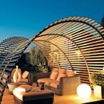 12-pergola din lemn arcuit design modern