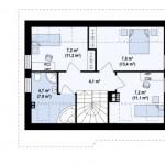 12-plan mansarda proiect casa mica 99 mp