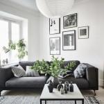 12-plante verzi in amenajarea unui living scandinav cu canapea gri