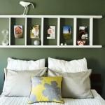 12-polita suport mici decoratiuni pe peretele de deasupra patului din dormitor