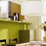 12-raft decorativ perete deasupra locului de luat masa din living