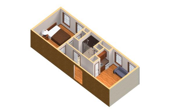 12-randare 3D apartament pentru parinti si bunici Fox Dell Suite