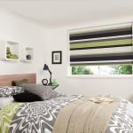 12-rolete textile decor imprimeu dungi orizontale colorate decor fereastra dormitor modern