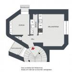 12-schita apartament 2 camere 33 metri patrati