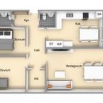 12-schita apartament cu 3 camere