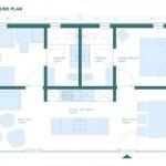 12-schita compartimentare interioara casa Coodo 64 fara etaj