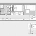 12-schita compartimentare interioara garsoniera moderna tinereasca de 30 mp