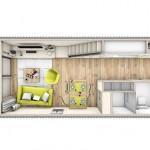 12-schita plan parter casa modulara prefabricate Heijmans One 45 mp