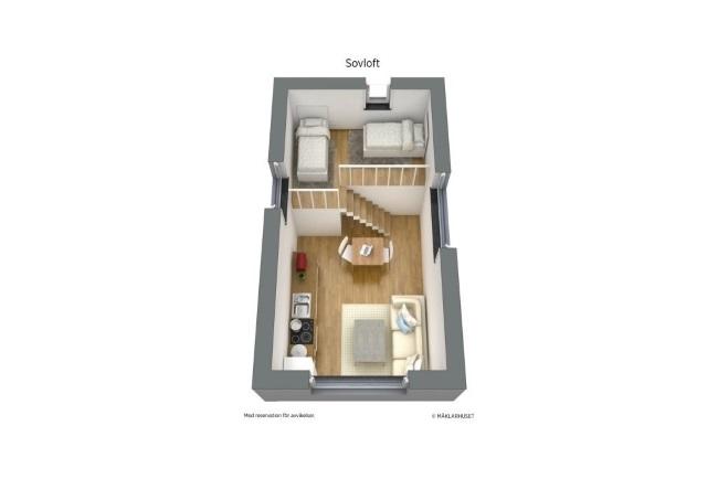 12-schita randare 3D casa mica 19 mp cu loft