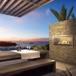 12-semineu de exterior cu design modern integrat in zidul unei terase
