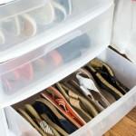 12-sertar din plastic depozitare incaltaminte