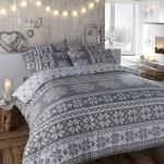 12-set lenjerie de pat cu imprimeu de iarna decor dormitor rustic scandinav