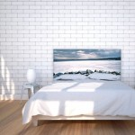 12-tablie decorativa pentru pat imprimeu imagine lac inghetat Noyo Home