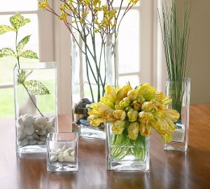 12-vaze de forma patrata decoratiuni pentru casa