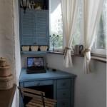 13-amenajarea unui spatiu de lucru cu birou in balcon mic si ingust