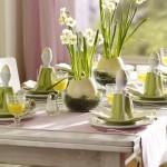 13-aranjament festiv vernil si crem pentru masa de Pasti